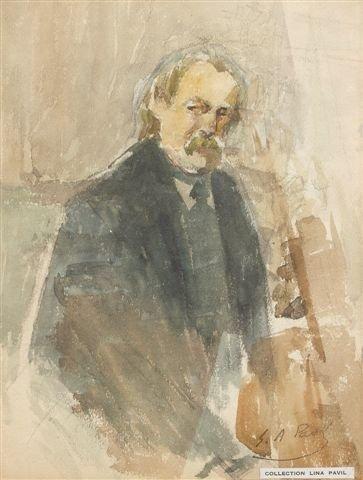 8: Élie-Anatole PAVIL (1873-1948), Russian Autoportrait