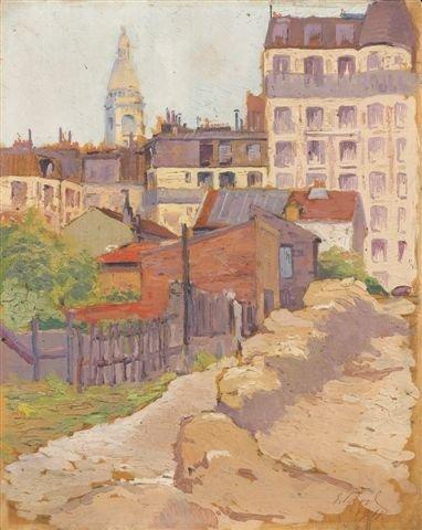 12: Élie-Anatole PAVIL (1873-1948)Russian Le Montmartre