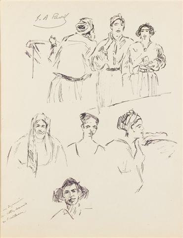 18: élie-Anatole PAVIL (1873-1948) Russian Études pour