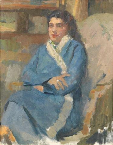 22: Élie-Anatole PAVIL (1873-1948) Russian Portrait of