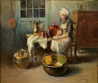 285: Edouard-L�on CORTES (1882-1969) Les cuivres Huile