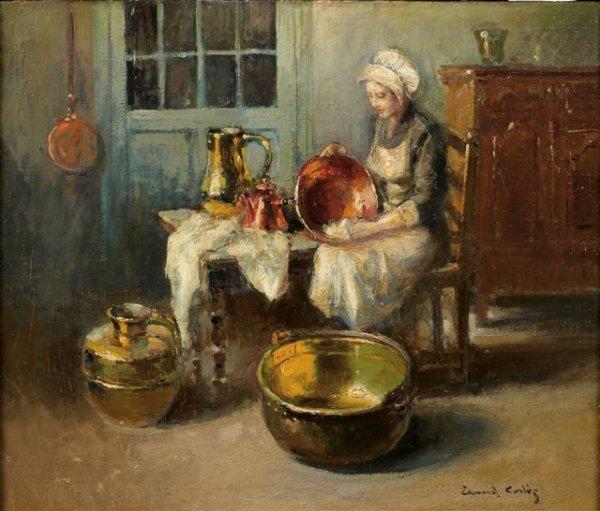 285: Edouard-Léon CORTES (1882-1969) Les cuivres Huile