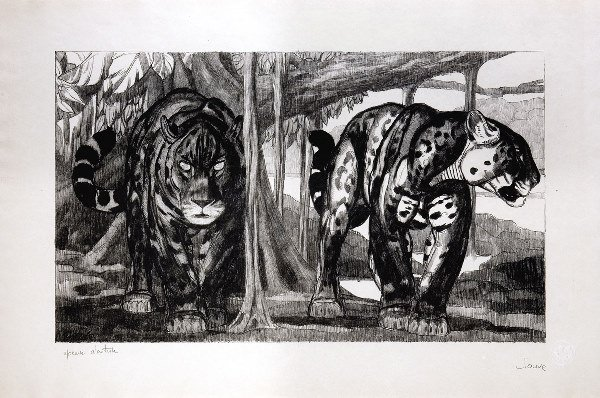 1004: JOUVE Paul (1880-1973)« The Two Jaguars », Origin