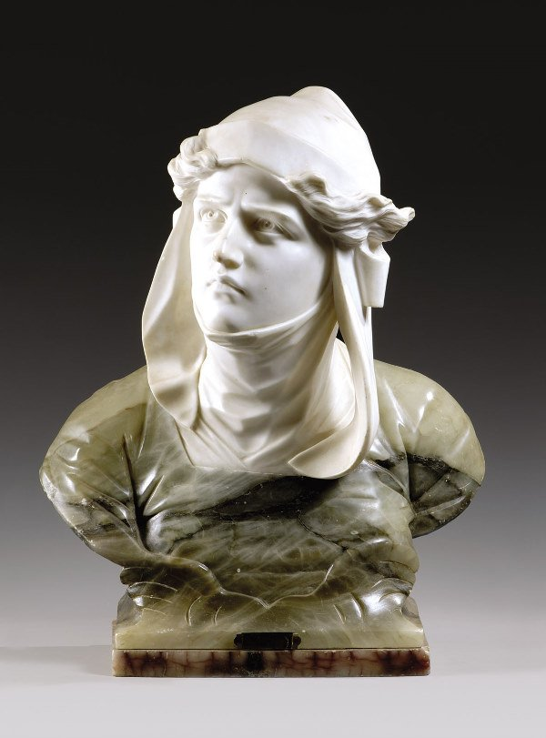 "1011: BESSI G."" Aviation"". Marble and onyx sculpture, s"