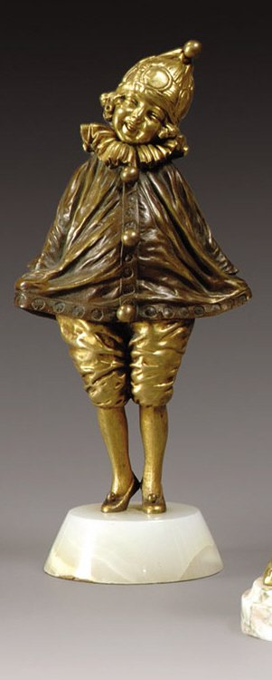 "1024: CHIPARUS Demeter (1886-1947) ""Little Clown"" Bronz"