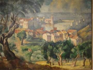 51: KRAMITYK Le port de Collioure Huile sur toile, sign