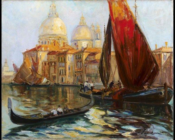 1: Georges LAPCHINE (1885-1951), Coucher de soleil