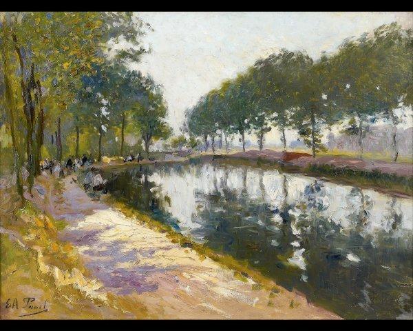 2: Elie-Anatole PAVIL (1873-1948), Pêcheurs au bord du