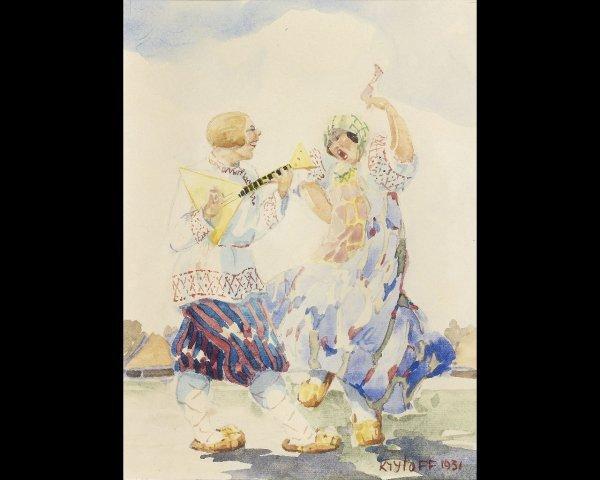 10: Boris KRYLOV (1891-1977),Scènes de danse