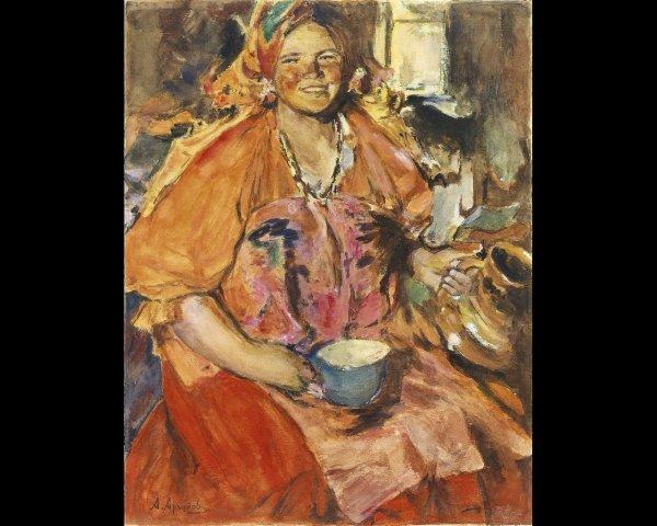 11: Abraham Efimovich ARKHIPOV (1862-1930), Femme à la