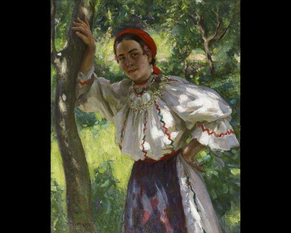 14: Nicolas-Basile HARITONOFF (1880-1944) Jeune fille r