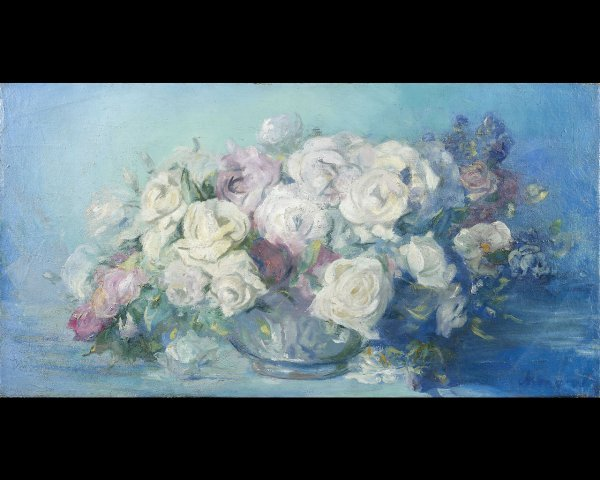 17: Paul CHMAROFF (1874-1950) Bouquet de roses