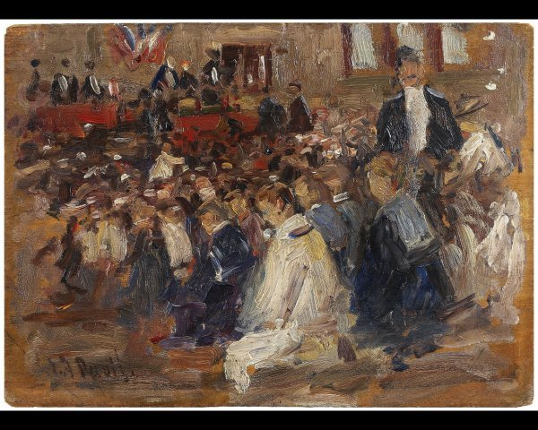 18: Elie-Anatole PAVIL (1873-1948) L'Assemblée et jeune