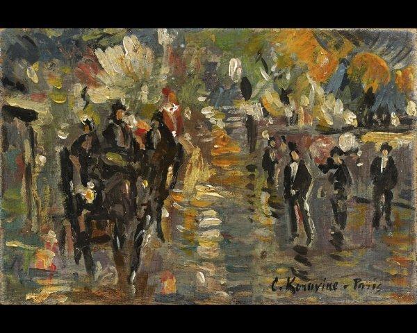 20: Constant-Alexis KOROVINE (1861-1939) Sortie du Musi