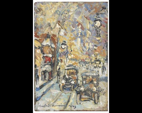 21: Constant-Alexis KOROVINE (1861-1939)Une rue enneigé