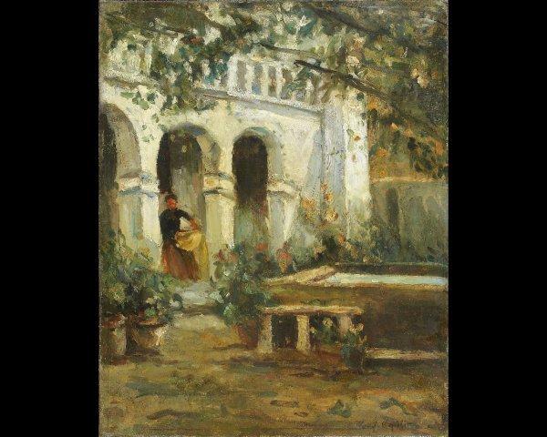 22: Constant-Alexis KOROVINE (1861-1939) Le patio, vers