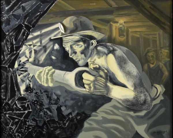 100: Léopold SURVAGE (1885-1937) Le charbon