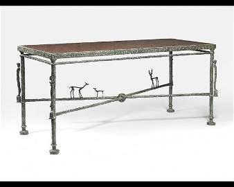 132: Diego GIACOMETTI (1902-1985)* Console avec cariati