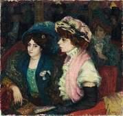 61: G. van de WOESTIJNE (1888-1947) �l�gantes au th��tr