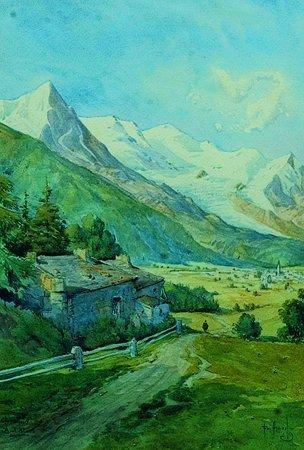 6: Ecole Francaise début  du  XXème siècle  Chamonix, l