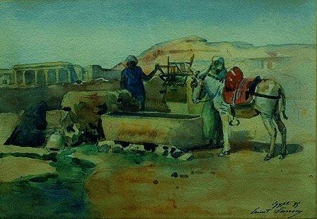 15: Ernest Constant SIMON (mort en 1895) L' oasis Aquar