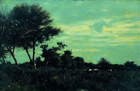 16: Camille BERNIER (1823-1902) Paysage aux vaches Huil