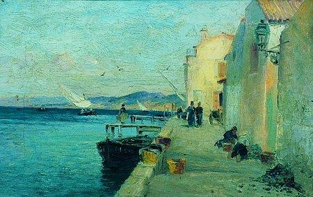18: Gaston Marie Anatole ROULLET (1847-1925) Sur la jet