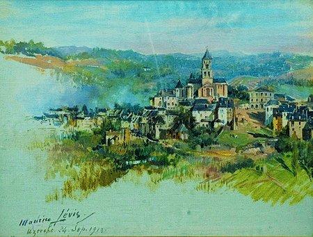 23: Maurice LEVIS (1860-1940) Uzerche Huile sur toile s