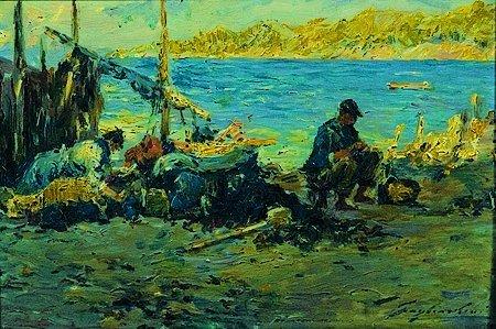 24: Julien Gustave GAGLIARDINI (1846-1927) Après la pêc