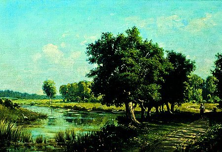 116: Constantin KRIGITSKI (1858-1911) Bord de rivière H