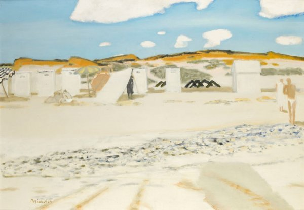 2: Maurice BRIANCHON (1899-1979) * La grande plage Huil