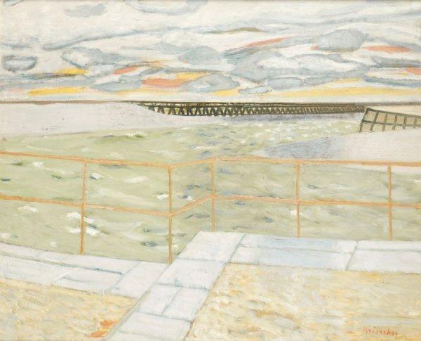 6: Maurice BRIANCHON (1899-1979) * La jetée, 1961, Huil