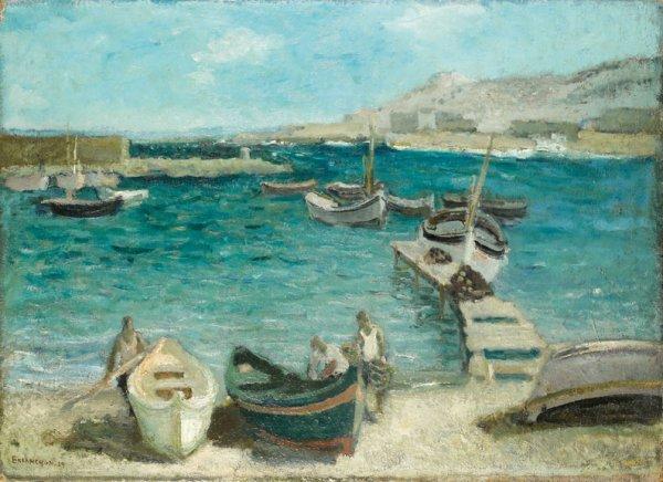 7: Maurice BRIANCHON (1899-1979) * Port de pêche, Les G