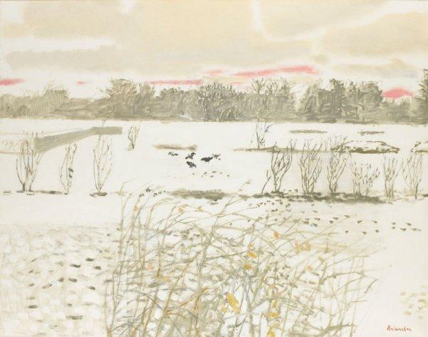 8: Maurice BRIANCHON (1899-1979) * Paysage de neige, 19
