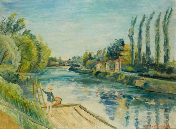 14: Constantin TERECHKOVITCH (1902-1978) * Les peuplier