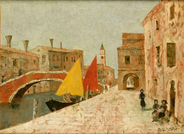 20: Roland OUDOT (1897-1981) * Venise, Huile sur toile,
