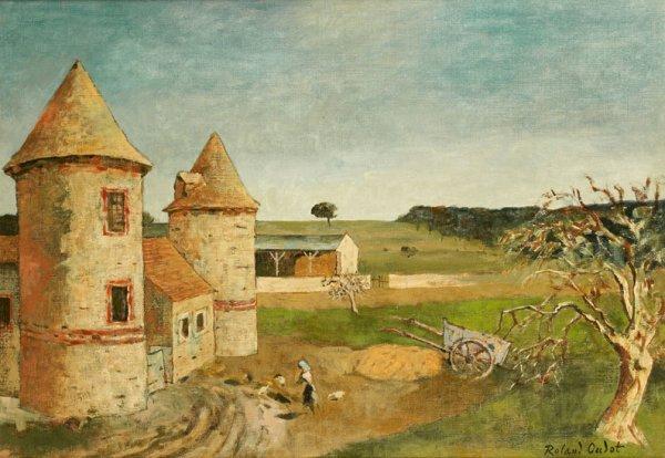22: 22 Roland OUDOT (1897-1981) * Ferme à Saint-Cyr sou
