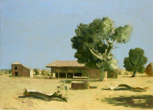 23: Roland OUDOT (1897-1981) * La ferme, Camargue, Huil