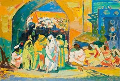 35: Roger Marcel LIMOUSE (1894-1990) * Sc�ne marocaine