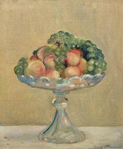 2: HENRI OTTMAN Corbeille de fruits, Huile sur toile 47