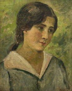 3: HENRI OTTMAN Portrait de femme Huile sur toile 38 x
