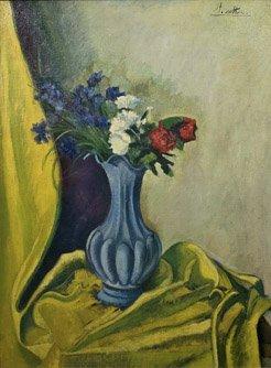 5: ANDRÉ UTTES (1886-1948) Fleurs Huile sur toile signé