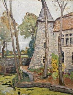 7: LUCIEN MAINSSIEUX (1885-1958) Village Huile sur toil