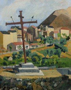 8: ANDRÉ UTTES (1886-1948) Paysage Huile sur toile sign