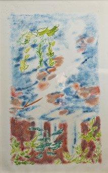 11: JULES CAVAILLES (1901-1977) Les chutesAquarelle et