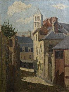 12: GASTON BALANDE (1880-1971) Rue devant la Cathédrale