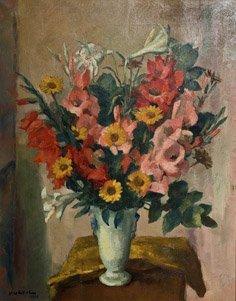 13: CHARLES KVAPIL (1884-1957) Bouquet de fleurs Huile
