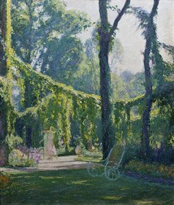 14: OCTAVE-DENIS-VICTOR GUILLONNET (1872-1967) Le jardi