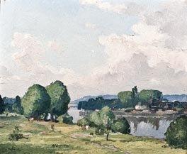 16: GASTON BALANDE (1880-1971) Paysage Huile sur toile,