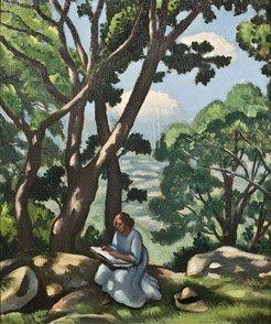 17: LOUIS CHARLOT (1878-1951) La lecture sous les pins